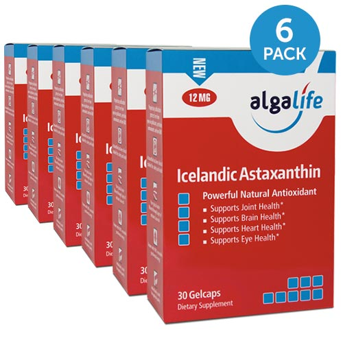 Icelandic Astaxanthin 12 mg 30 Gelcaps x6