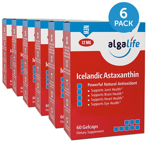 Icelandic Astaxanthin 12 mg 60 Gelcaps 6 Pack