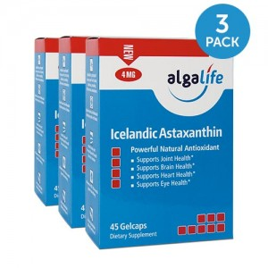 Icelandic Astaxanthin 4 mg 45 Gelcaps 3 Pack