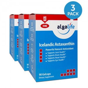 Icelandic Astaxanthin 4mg 90 Gelcaps 3 Pack