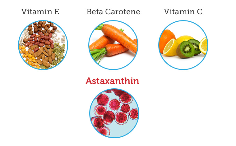 Astaxanthin vs. Vitamins